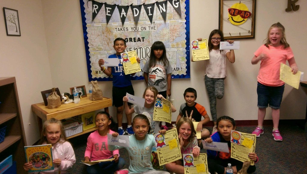 picture of summer reading challenge winners