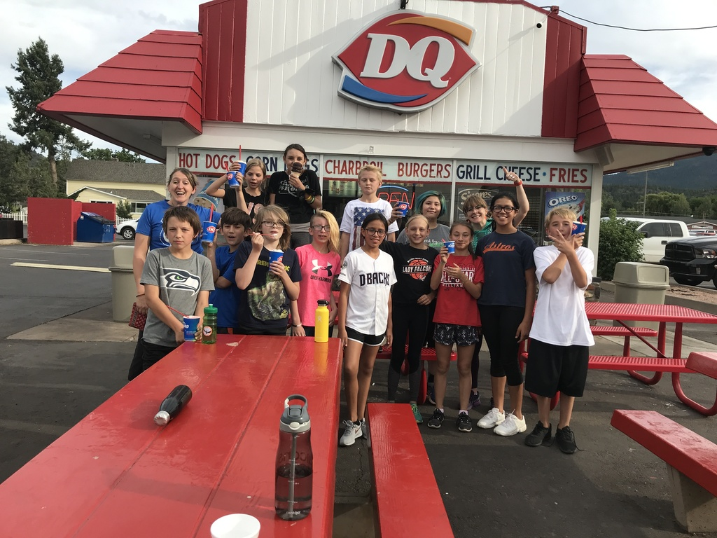 students at Dairy Queen