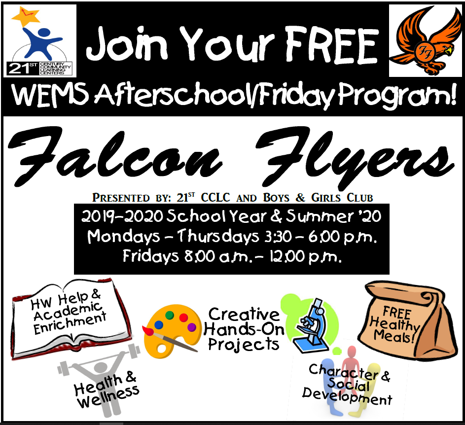 Falcon Flyers Announcement