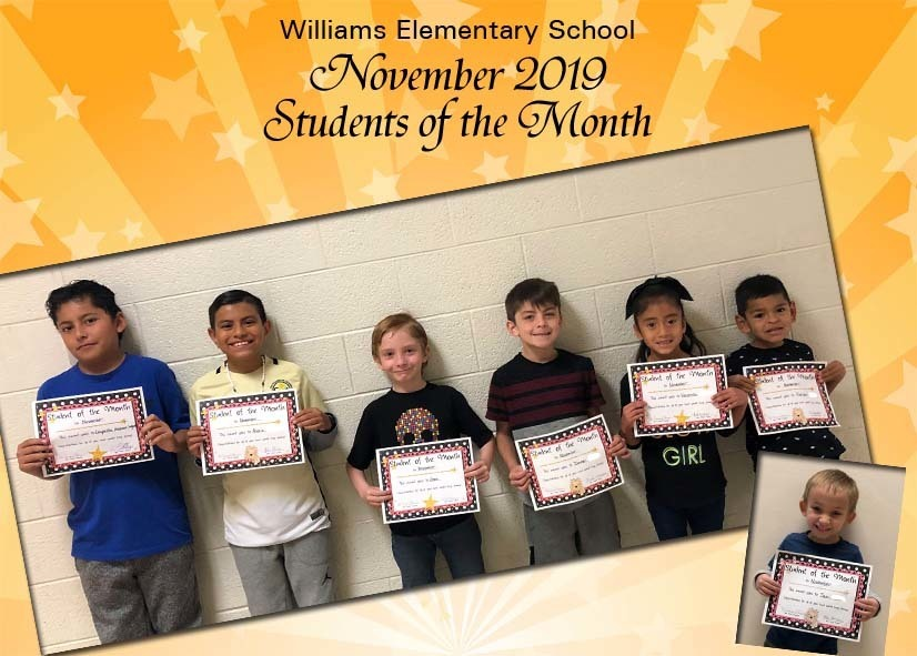 November Elementary Students of the Month