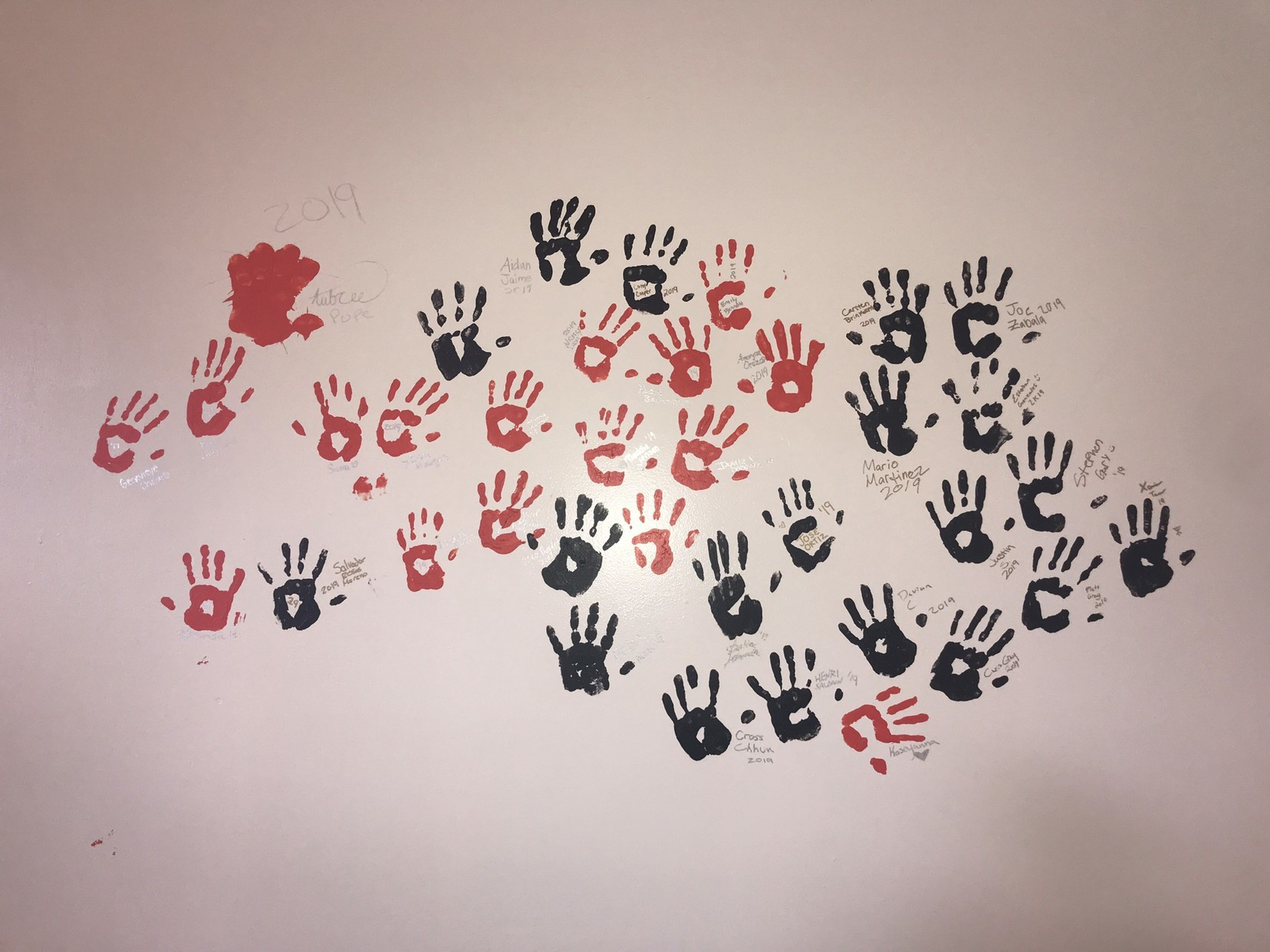 handprints from the Class of 2019